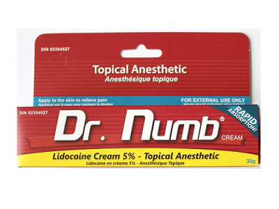 Dr Numb Cream for use with Dermaroller at home