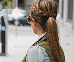 autumn hair trends ponytail