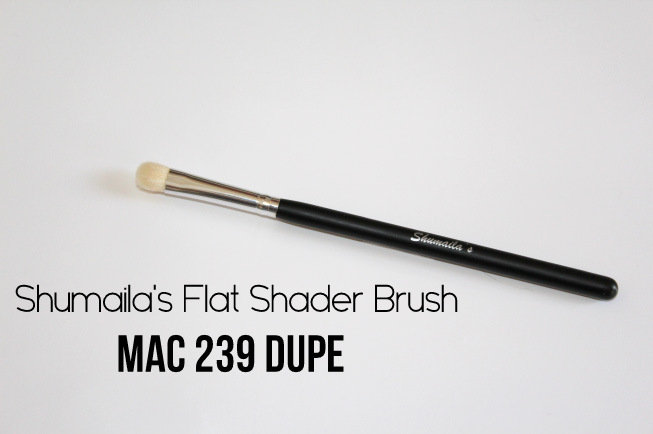 mac 239 dupe shumaila's flat shader brush