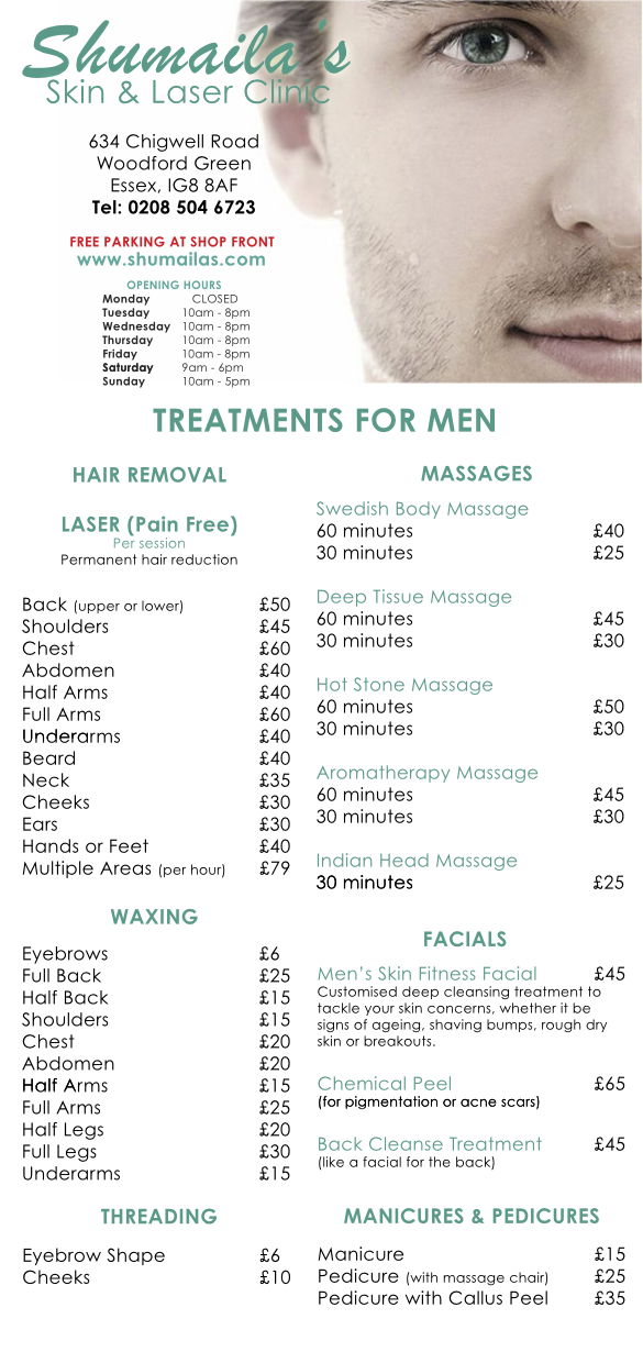 chigwell men's pricelist 2