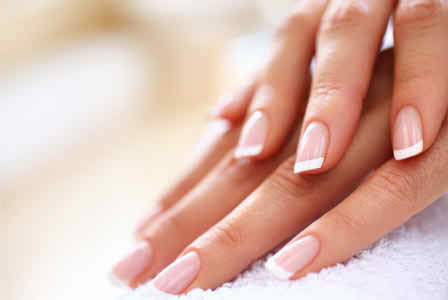 French manicure tips first or last