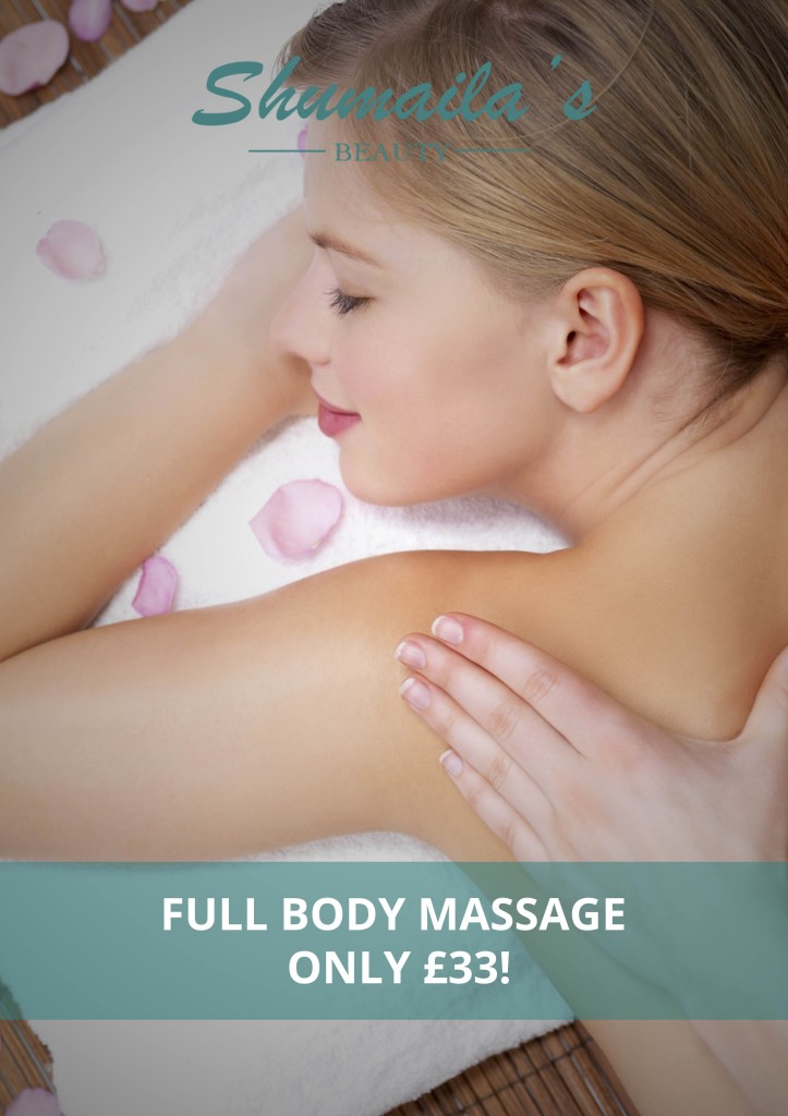 Full body massage offer