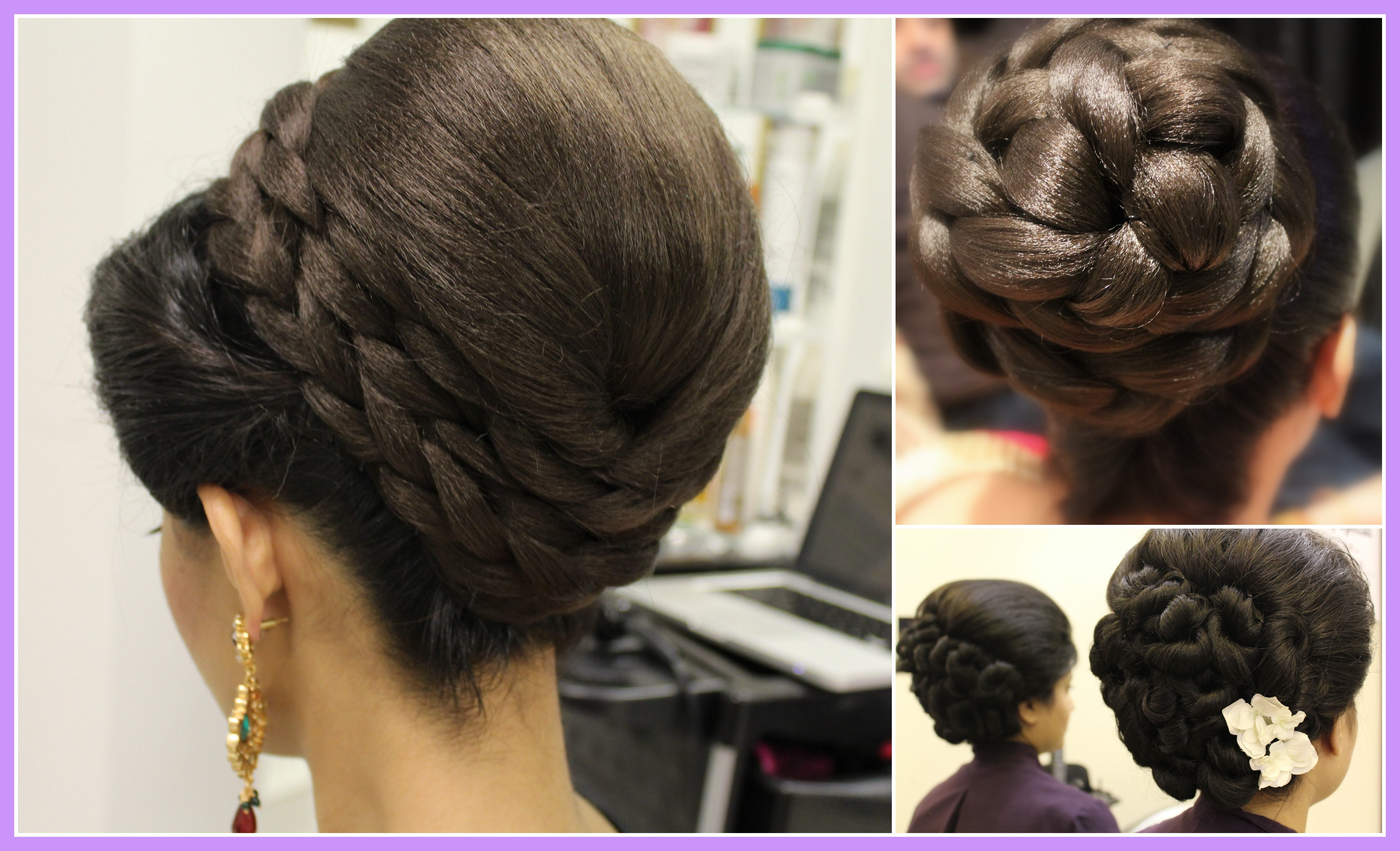 indian wedding hairstyles pics how to crimp curl hair with braids